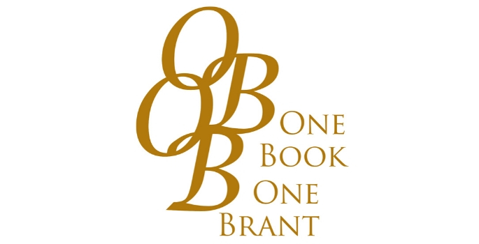 One Book One Brant written in gold lettering